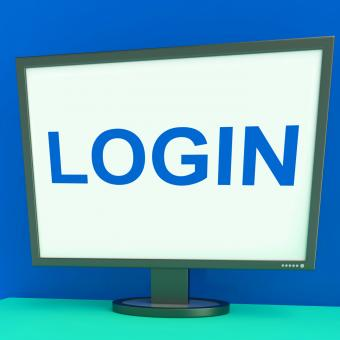 Free Stock Photo of Log In Screen Shows Website Internet Login Security