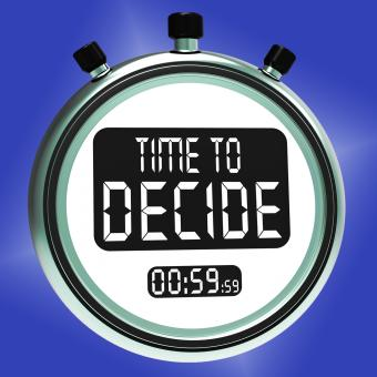 Free Stock Photo of Time To Decide Message Means Decision And Choice