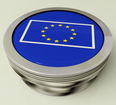 Free Stock Photo of European Union Flag Button Shows Government Of Europe