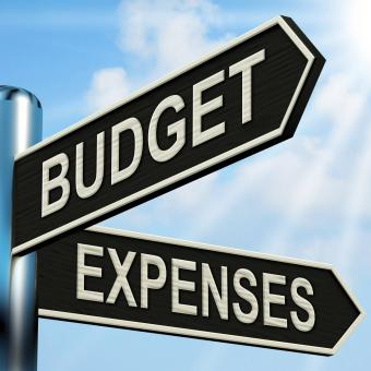 Free Stock Photo of Budget Expenses Signpost Means Business Accounting And Balance