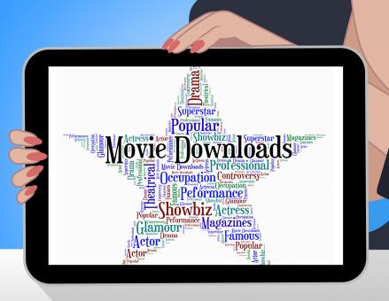 Free Stock Photo of Movie Downloads Represents Picture Show And Cinema