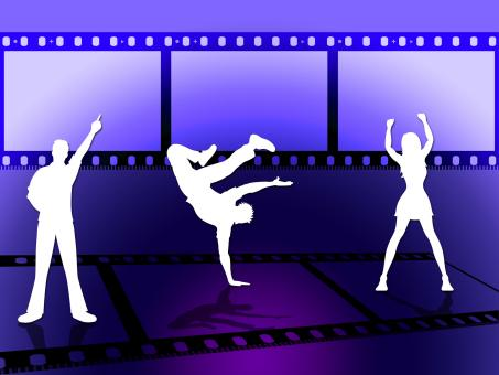 Free Stock Photo of Filmstrip Dancing Indicates Disco Music And Border
