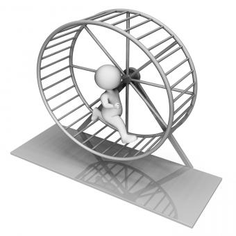 Free Stock Photo of Hamster Wheel Indicates Worn Out And Active 3d Rendering