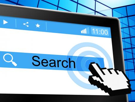 Free Stock Photo of Search Online Shows World Wide Web And Analyse