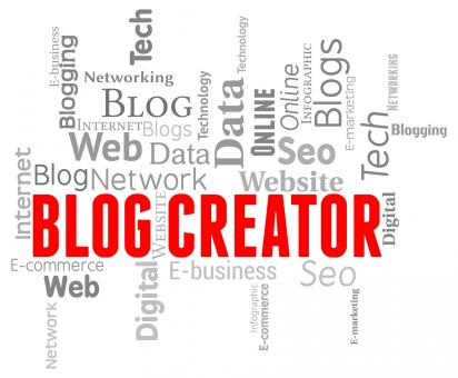 Free Stock Photo of Blog Creator Represents Web Site And Templates