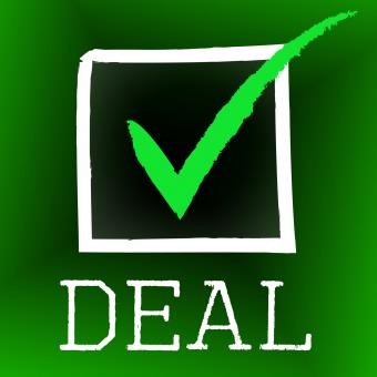 Free Stock Photo of Deal Tick Indicates Hot Deals And Bargain