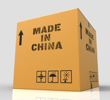 Free Stock Photo of Made In China Indicates Goods And 3d Rendering