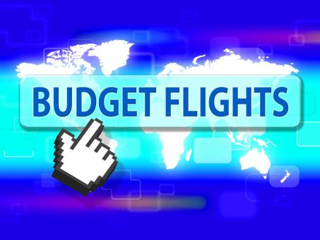 Free Stock Photo of Budget Flights Shows Special Offer And Airplane