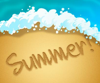 Free Stock Photo of Summer Beach Means Summertime Vacation 3d Illustration