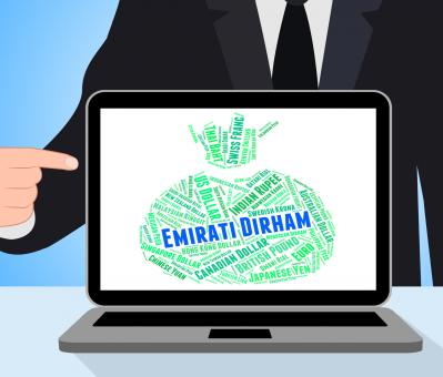 Free Stock Photo of Emirati Dirham Means United Arab Emirates And Currency