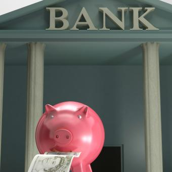 Free Stock Photo of Piggybank On Bank Shows Secure Savings