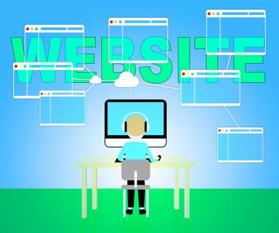 Free Stock Photo of Website Online Means Browsing Internet 3d Illustration