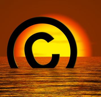 Free Stock Photo of Copyright Symbol Sinking Meaning Piracy Or Infringement