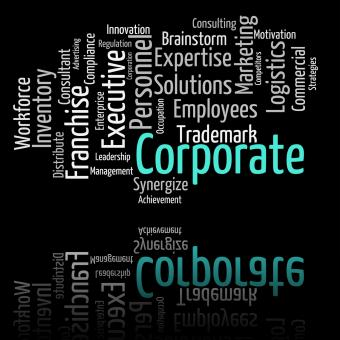 Free Stock Photo of Corporate Word Represents Text Corporations And Words