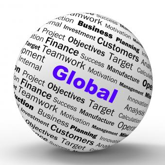 Free Stock Photo of Global Sphere Definition Means International Communications Or Worldwi