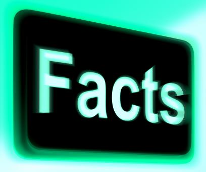 Free Stock Photo of Facts Sign Shows True Information And Data