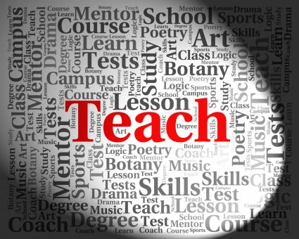 Free Stock Photo of Teach Word Means Give Lessons And Coaching