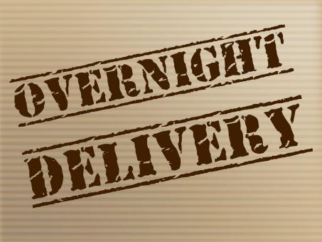 Free Stock Photo of Overnight Delivery Indicates Next Day And Courier