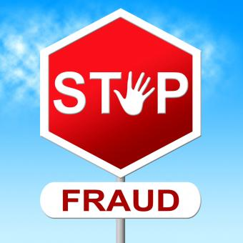 Free Stock Photo of Fraud Stop Represents Warning Sign And Cheat