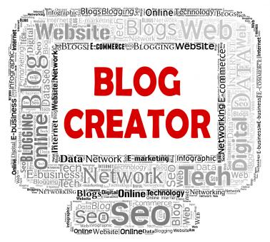 Free Stock Photo of Blog Creator Indicates Web Site And Blogger