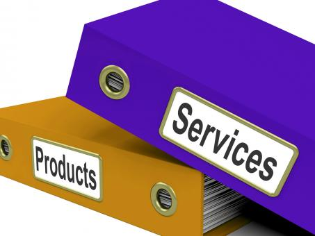 Free Stock Photo of Services Products Folders Show Business Service And Merchandise