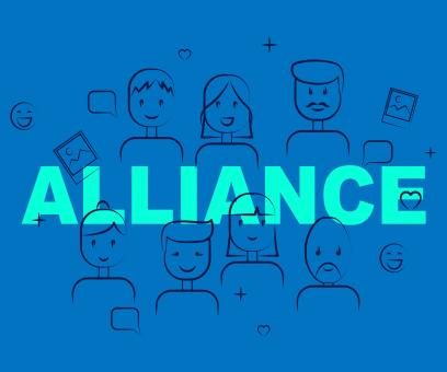Free Stock Photo of Alliance Of People Means Cooperate Cooperation And Team