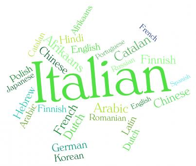 Free Stock Photo of Italian Language Shows Lingo Translate And International