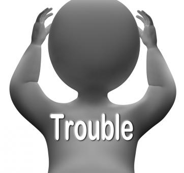 Free Stock Photo of Trouble Character Means Problems Difficulty And Worries