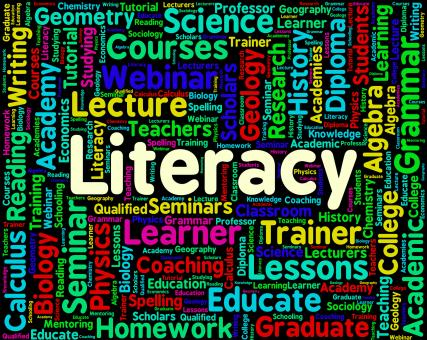 Free Stock Photo of Literacy Word Indicates Education Reading And Words