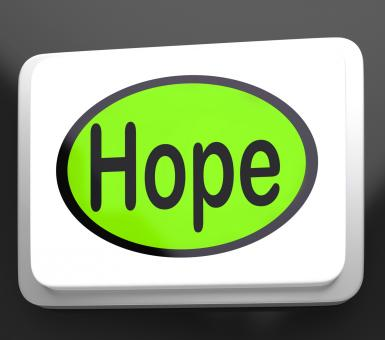 Free Stock Photo of Hope Button Shows Hoping Hopeful Wishing Or Wishful