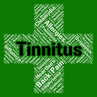 Free Stock Photo of Tinnitus Word Means Poor Health And Ailment