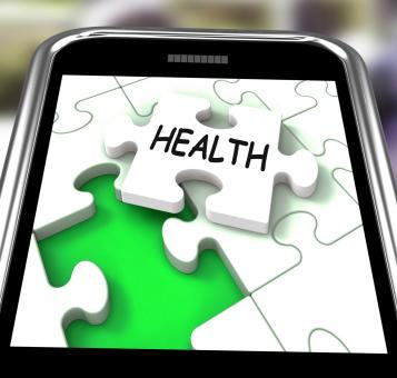 Free Stock Photo of Health Smartphone Shows Medical Wellness And Self Care