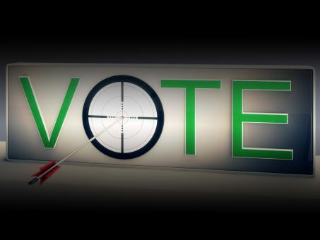 Free Stock Photo of Vote Target Shows Choosing To Elect Option