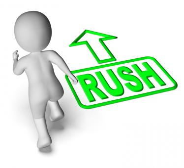 Free Stock Photo of Rush And Running 3D Character Shows Urgent Hurry Priority