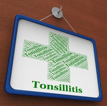 Free Stock Photo of Tonsillitis Word Shows Poor Health And Affliction