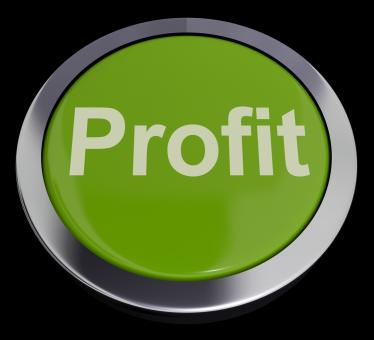 Free Stock Photo of Profit Computer Button In Green Showing Earnings And Investment