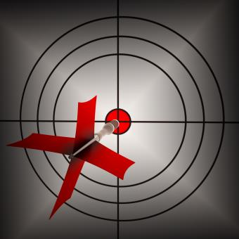 Free Stock Photo of Arrow Aiming On Dartboard Shows Aiming Accuracy