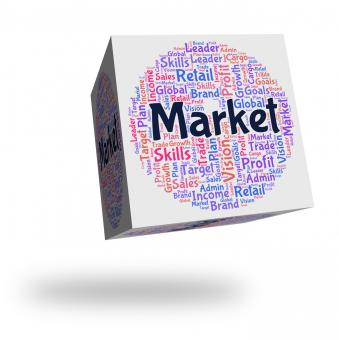 Free Stock Photo of Market Word Indicates Wordcloud Advertising And Fair