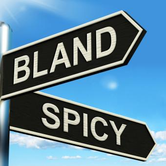 Free Stock Photo of Bland Spicy Signpost Means Tasteless Or Hot