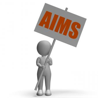 Free Stock Photo of Aims Protest Banner Means Ambitious Targets And Aspirations