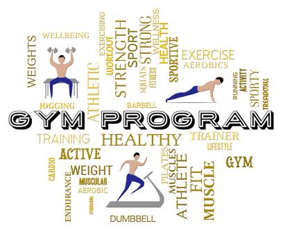 Free Stock Photo of Gym Program Represents Fitness Center And Athletic