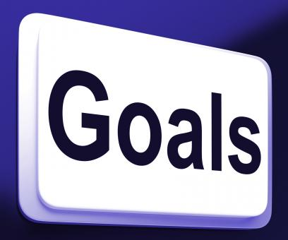 Free Stock Photo of Goals Button Shows Aims Objectives Or Aspirations