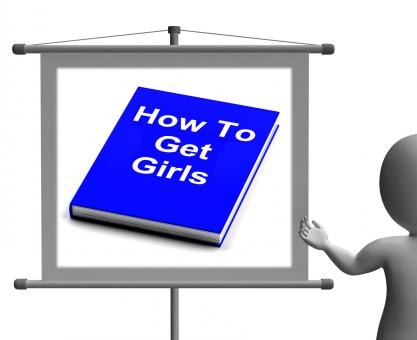 Free Stock Photo of How To Get Girls Book Sign Shows Improved Score With Chicks