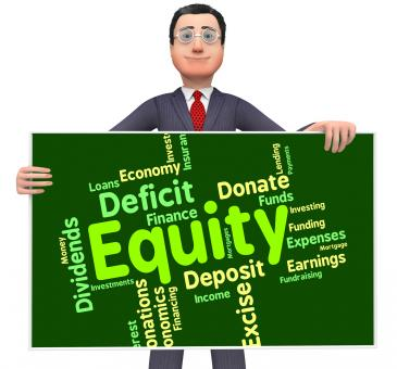 Free Stock Photo of Equity Word Shows Fund Capital And Riches