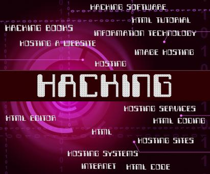 Free Stock Photo of Hacking Word Represents Crime Malware And Security
