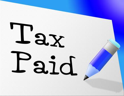 Free Stock Photo of Tax Paid Represents Pay Bills And Payment