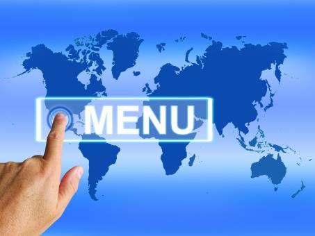 Free Stock Photo of Menu Map Refers to International Choosing and Options