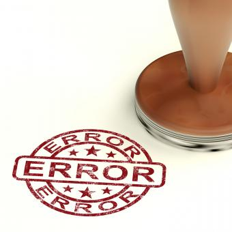 Free Stock Photo of Error Stamp Shows Mistake Fault Or Defects