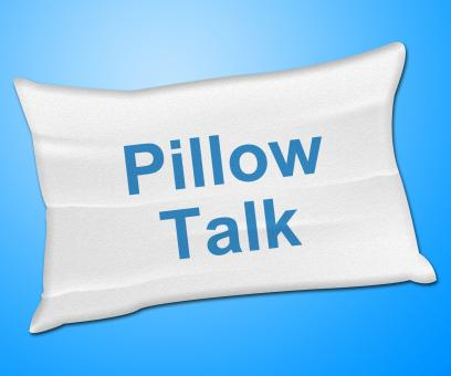 Free Stock Photo of Pillow Talk Means Talking Conversation And Discussion