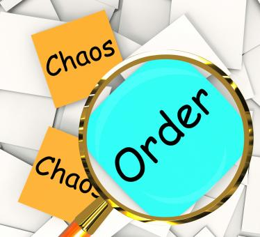 Free Stock Photo of Chaos Order Post-It Papers Show Disorganized Or Ordered
